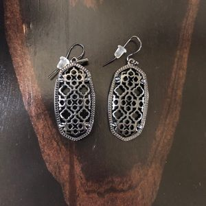 Kendra Scott Elle Gunmetal Gray Earrings